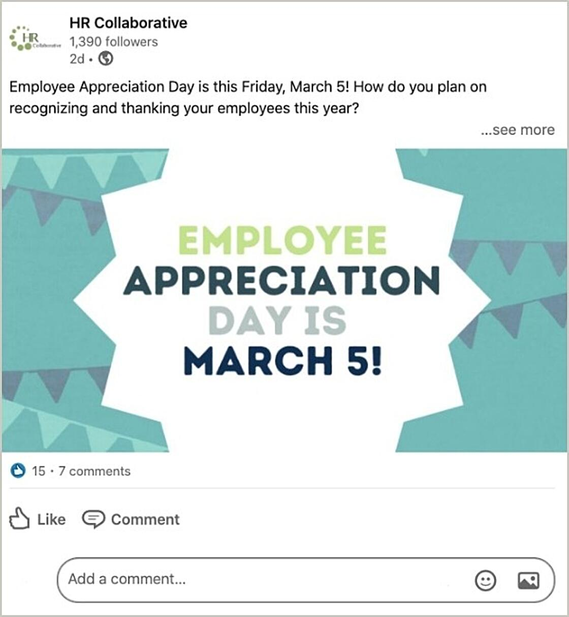 LinkedIn Post - How do you plan on recognizing and thanking your employees this year?